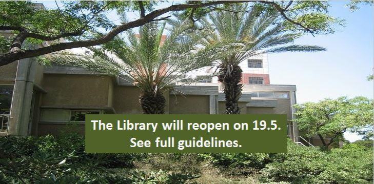 The library will reopen on 19.5. see full guidelines